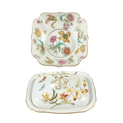 Ajco Ceramic Vegetable Bowl with Covered Vegetable Bowl, Vintage
