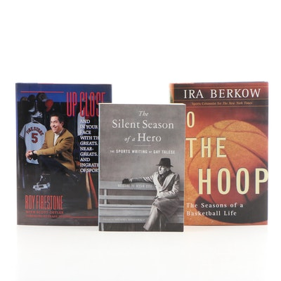 Sport Journalists Roy Firestone, Ira Berkow and Gay Talese Book Collection