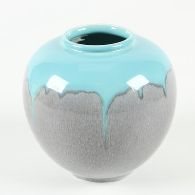 Rookwood Pottery Ceramic Drip Glaze Vase, Mid-20th Century