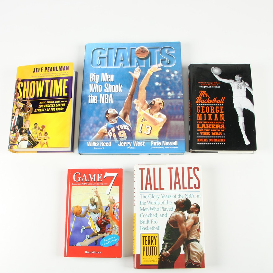 "First Edition ""Tall Tales"" with Other NBA Books, Five Volumes"