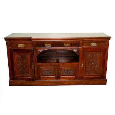 Renaissance Revival Buffet Cabinet with Carved Wood Accents, 20th Century