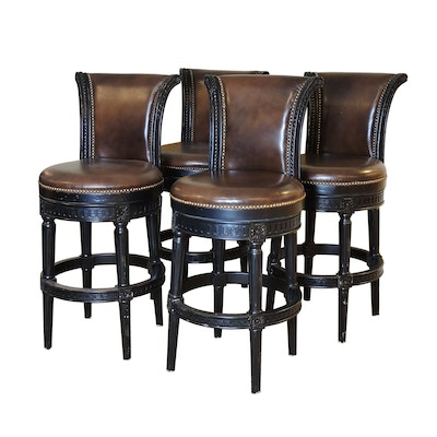 Frontgate Bar Stools with Nailhead Trim
