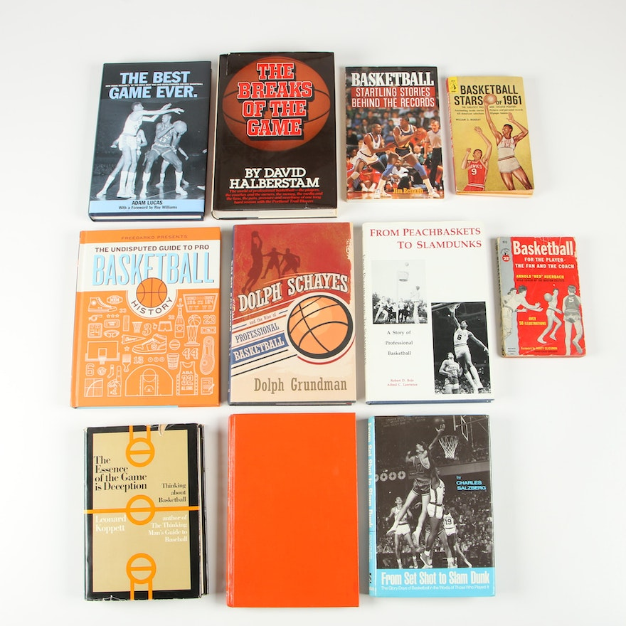 """Caught in the Net"" with Other Basketball Books including First Editions"