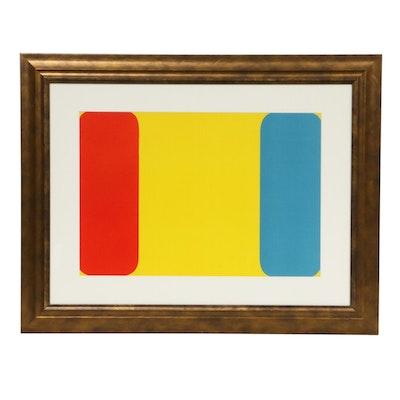 """Ellsworth Kelly Double Page Color Lithograph for """"Derrière le Miroir,"""" 1964"""