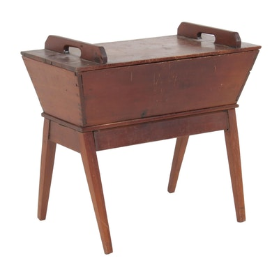 American Pine Dough Box Table, 19th Century