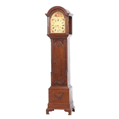 Federal Style Mahogany Tall Case Clock, Early to Mid 20th Century