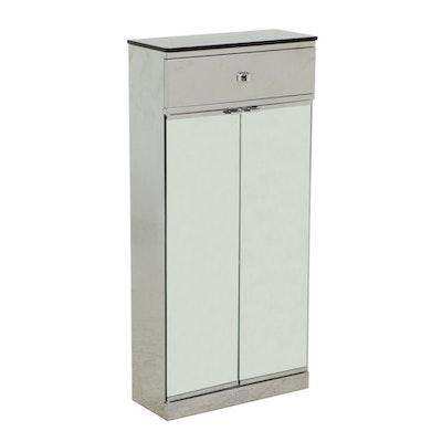 Metalkris, Mirrored Metal Cabinet, Contemporary