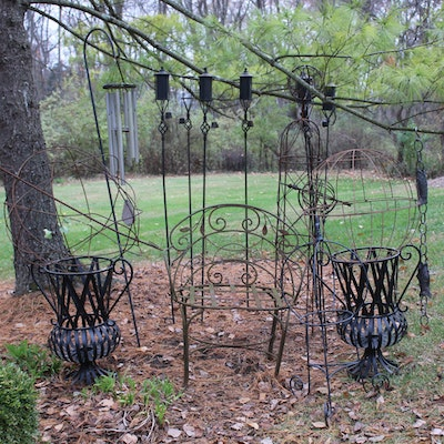 Wrought Metal Outdoor Furnishings and Décor
