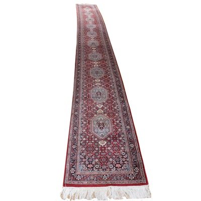 2'9 x 24'11 Hand-Knotted Indo-Persian Bijar Runner Rug