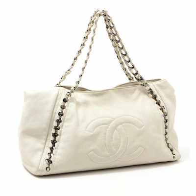 Chanel East/West Modern Chain Large Calfskin Shoulder Bag