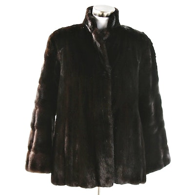 Dark Mahogany Mink Fur Jacket
