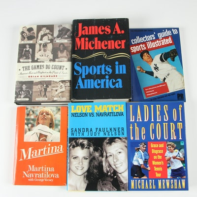 "First Edition ""Ladies of the Court"" with Additional Sport Books, Six Volumes"