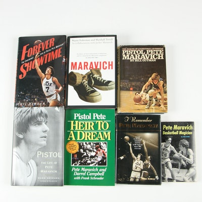 Pete Maravich Book Collection, Seven Volumes including First Editions
