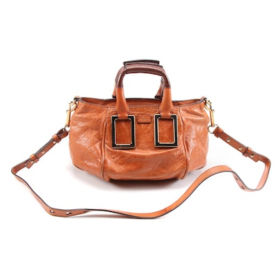 Chloé Small Ethel Convertible Satchel in Cognac Glazed Leather