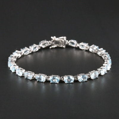 Sterling Silver Topaz Bracelet