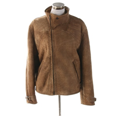 Yves St. Tropez Shearling Zip Jacket
