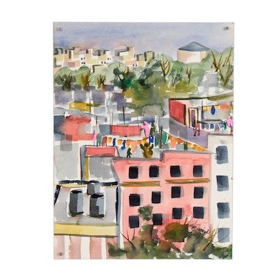Kathleen Zimbicki Cityscape Watercolor Painting