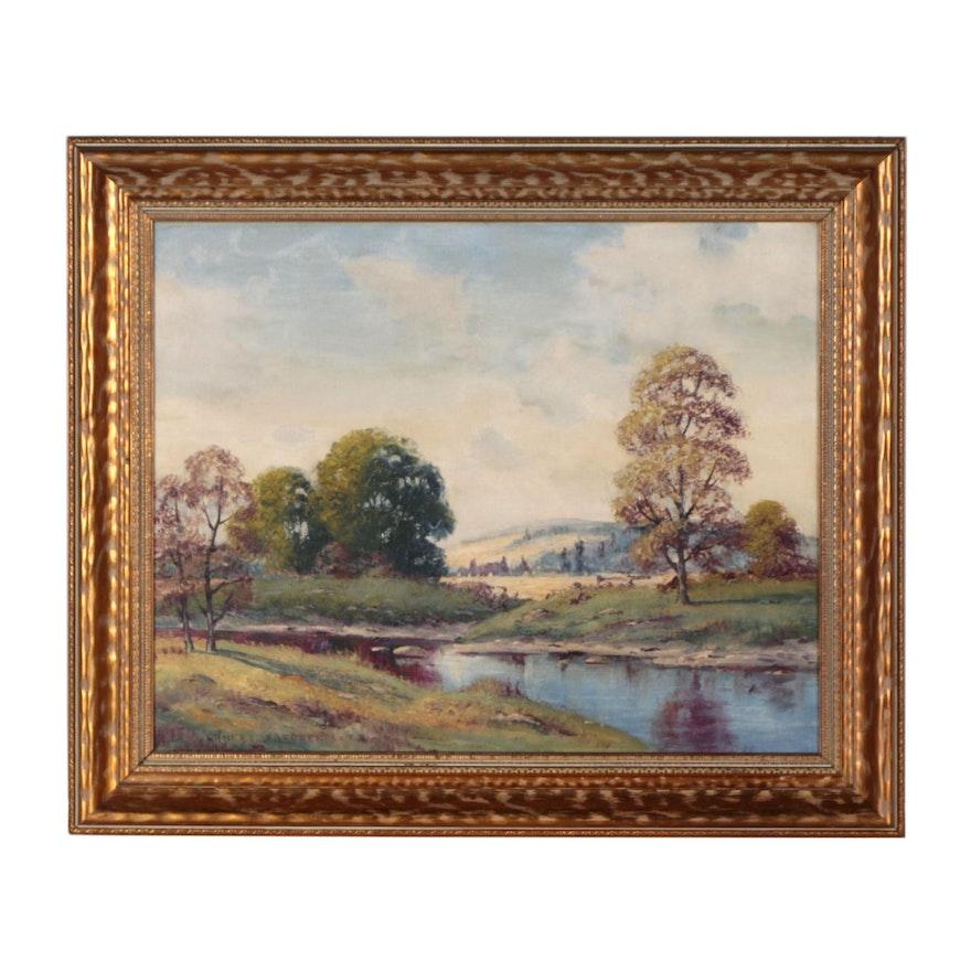 Ernest Fredericks Landscape Oil Painting