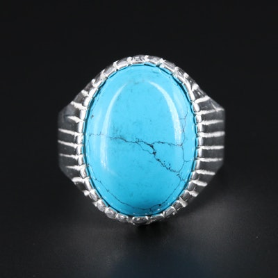 Sterling Silver Howlite Ring