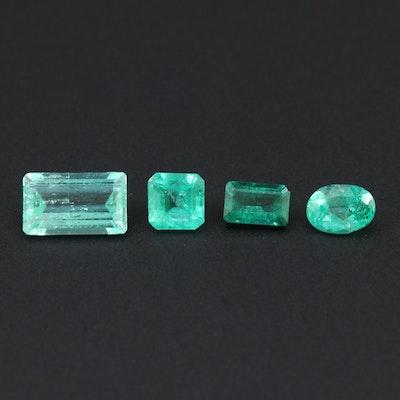 Loose 3.63 CTW Emerald Gemstones