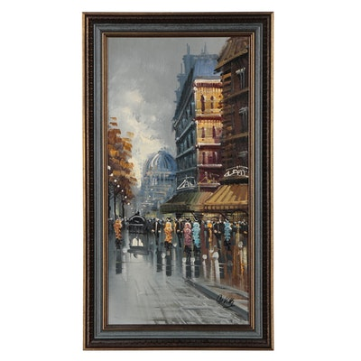 De Vitty Cityscape Oil Painting