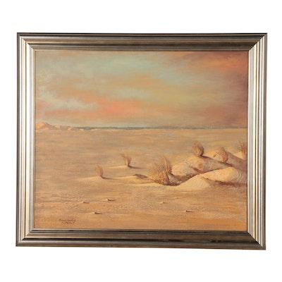 Thomas L. Lewis Southwestern Landscape Oil Painting