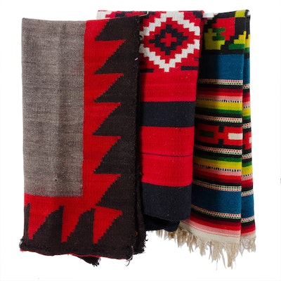 Handwoven Mexican and Navajo Style Wool Textiles