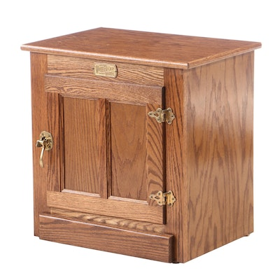 "Woodcraft ""White Clad"" Oak Ice Box Cabinet, Late 20th Century"