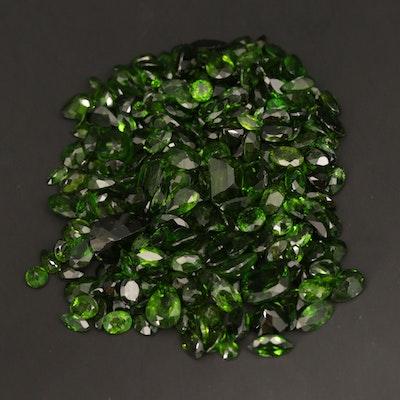 Loose 118.67 CTW Chrome Diopside Gemstones