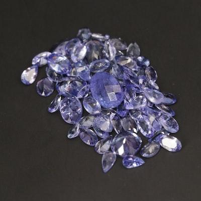 Loose 21.55 CTW Tanzanite Gemstones
