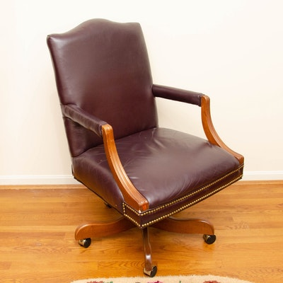 Sam Moore Furniture Adjustable Leather Office Chair