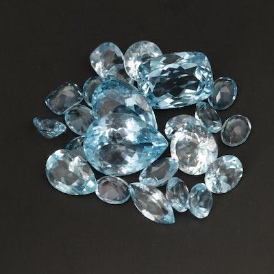 Loose 116.23 CTW Topaz Gemstones