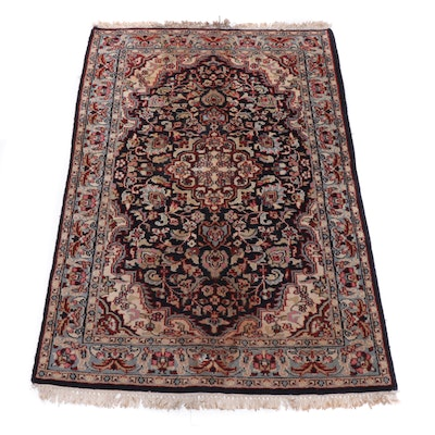 3'11 x 6'0 Hand-Knotted Indo-Persian Kashan Area Rug