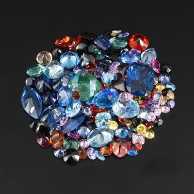 Loose Gemstone Assortment Including Sapphires and Rubies