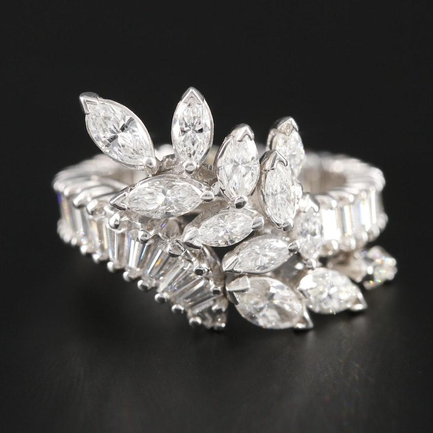 Platinum 4.04 CTW Diamond Ring
