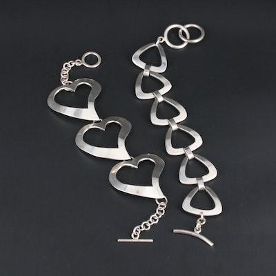 Sterling Silver Open Link Bracelets