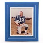 Johnny Unitas Signed Baltimore Colts Photo Print, PSA/DNA Full Letter COA