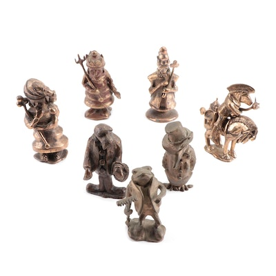 Bronze Figurines, Mid to Late 20th Century