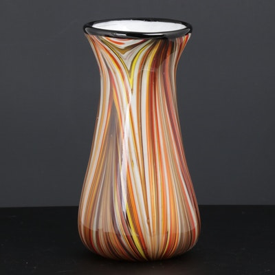Murano Art Glass Vase, Mid-20th Century