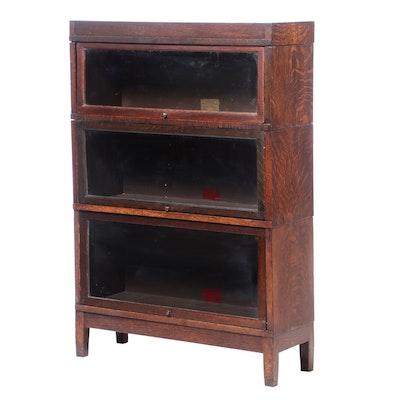 "Globe-Wernicke, ""Universal Style"" Quartersawn Oak Barrister Bookcase, circa 1920"