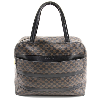 Céline Dome Satchel in Macadam Monogram Canvas and Leather