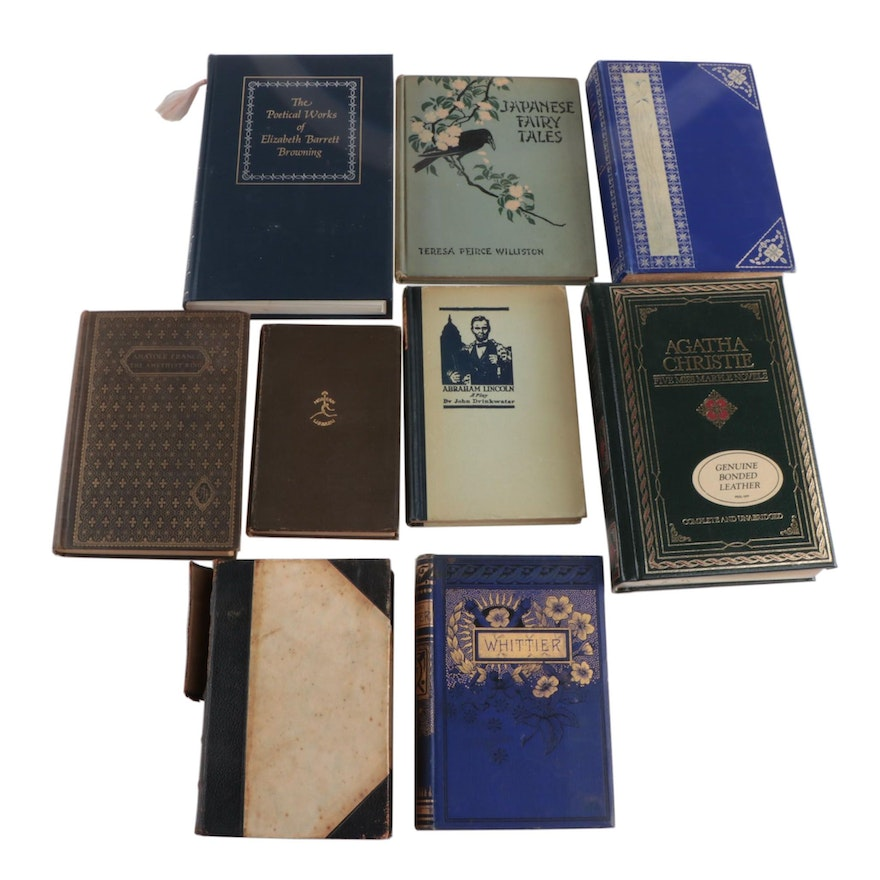 Fiction and Poetry Books Including Agatha Christie and Oscar Wilde