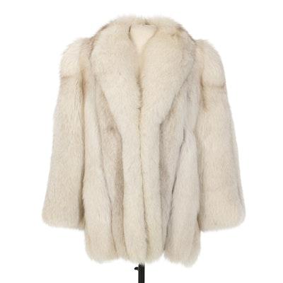 Basile Full-Pelt Blue Fox Fur Stroller, Vintage