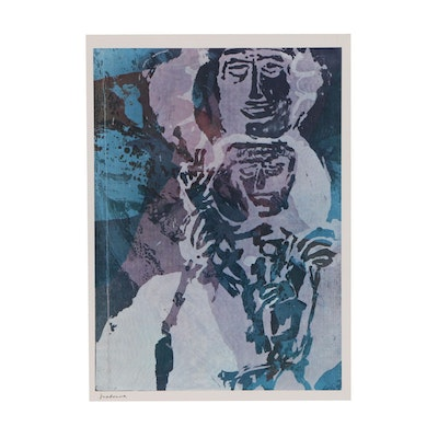 "Offset Lithograph after Sister Mary Corita Kent ""Madonna"""