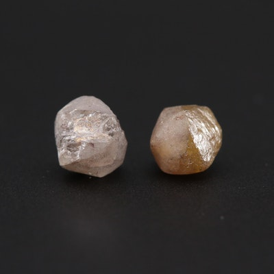 Loose 3.65 CTW Rough Diamond Gemstones