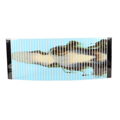 Abstract Fused Glass Wall Sculpture