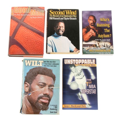 NBA Notables featuring Chamberlain, Milkan, Newell and Russell, Five Volumes