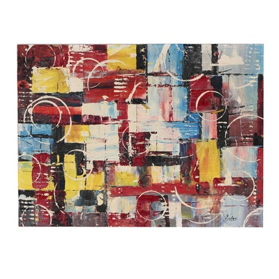 Modernist Style Abstract Oil Painting