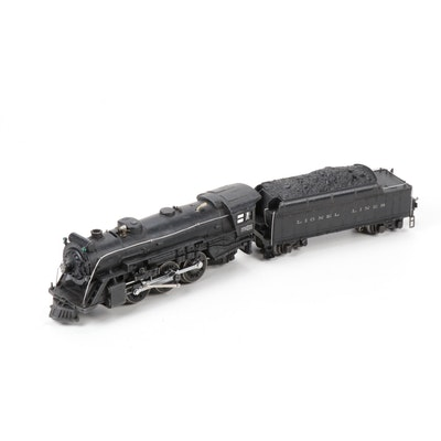 Pre-War Lionel O-Scale 225E Steam Locomotive with 2235W Die-Cast Metal Tender