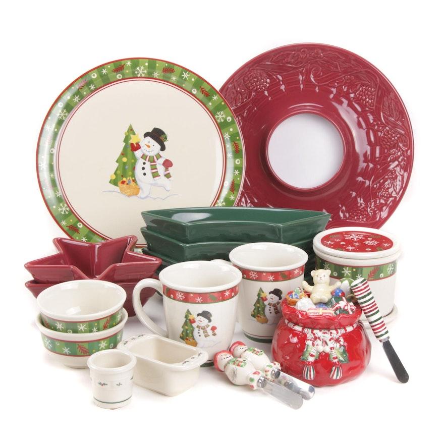 Longaberger Holiday Earthenware Bakeware and Serveware